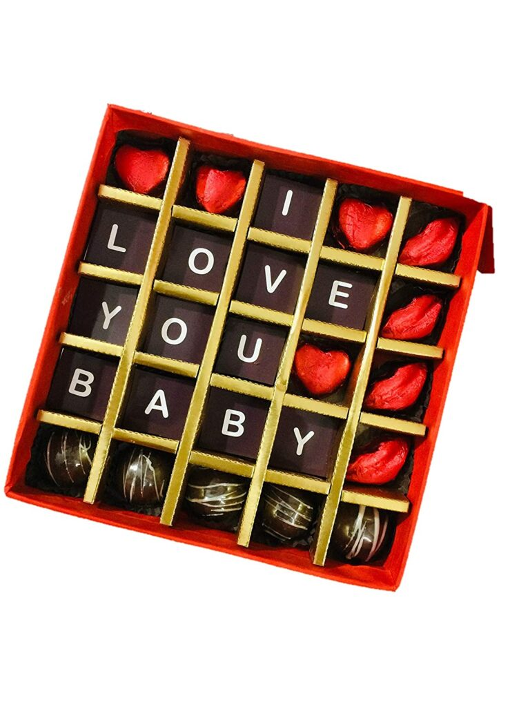 Best Valentine Day Gifts Ideas Personalised Valentines Day Gift - I Love You Baby Chocolate Box Chocolate Gift Pack Gujju Powers
